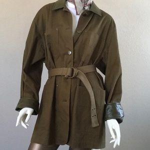 Jackets & Blazers - Oversized Army Green Military Style Jacket